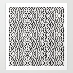 Black Coral Weaving Art Print