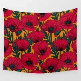 Red poppy garden    Wall Tapestry