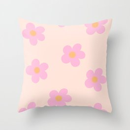 Retro 60's Flower Power 4 Throw Pillow