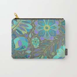 Muted Blue Flowers Carry-All Pouch