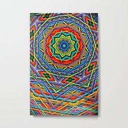 The small wool mandala Metal Print