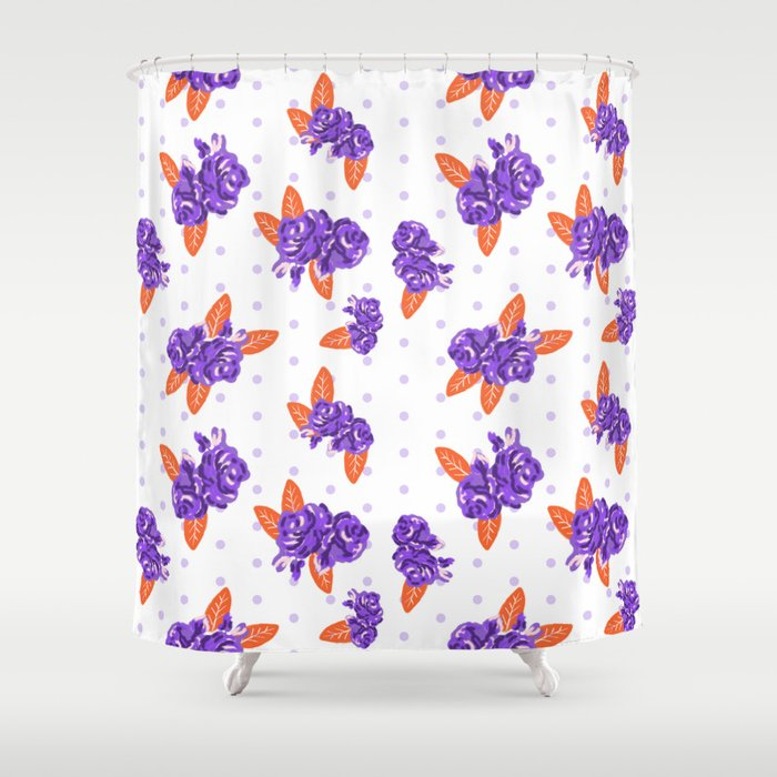 Floral Clemson Sports College Football University Varsity Team Alumni Fan  Gifts Shower Curtain