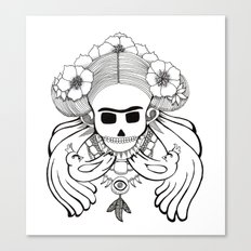 Frida Flowers Canvas Print