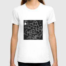 Brooklyn Vintage Map 1957 T-shirt