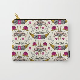 Born To Knit Carry-All Pouch