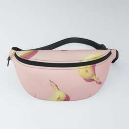 #01_banana on pink Fanny Pack