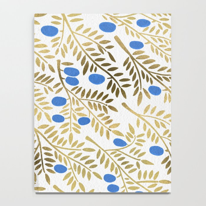 Olive Branches – Gold & Blue Notebook