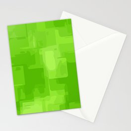 green and dark green square pattern abstract background Stationery Cards