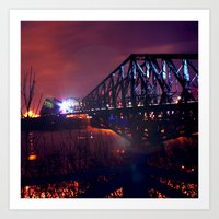 Cold night in Quebec city Art Print