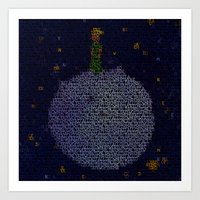 le petit prince Art Prints featuring LE PETIT PRINCE by Robotic Ewe