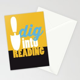 Dig Into Reading - Just Read Stationery Cards
