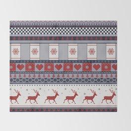 Scandinavian Christmas Pattern Throw Blanket