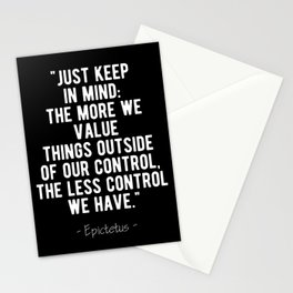 Stoic  - Control Epictetus Quote Stationery Cards