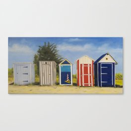 Beach huts Ile d'Oleron France Canvas Print