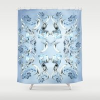 crystals Shower Curtains featuring Crystals by Armin