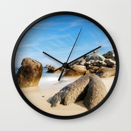 Lighthouse on Brittany Beach Wall Clock