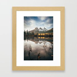 Alberta's Three Sisters Framed Art Print