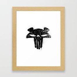 The Mega Plush Skull Framed Art Print