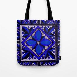 talavera mexican tile in blu Tote Bag