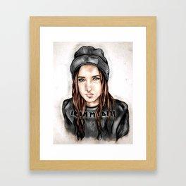 Iron Maiden Grunge Girl Framed Art Print