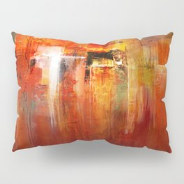 DownTown China Abstract Painting - Textured Acrylic On Canvas Pillow Sham