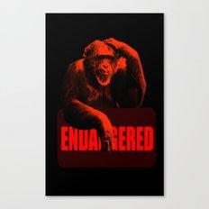Endangered Chimpanzee Canvas Print