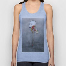 Doctor X, Skull anatomy drawing, NYC Artist Unisex Tank Top