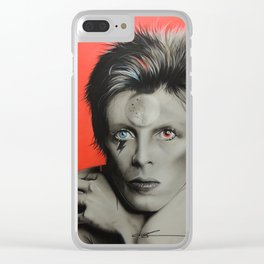 'Bolt of Bowie' Clear iPhone Case