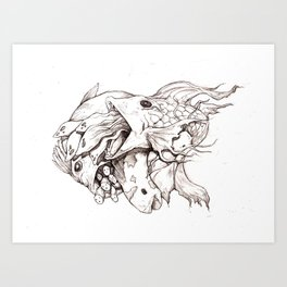Weird Fishes Art Print