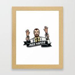 Jazz Hands! Framed Art Print