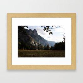 Yosemite Valley (left) Framed Art Print