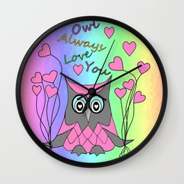 Love You Always Wall Clock