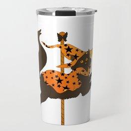 Halloween Cat Carousel Travel Mug