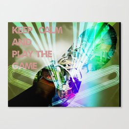 keep kalm and play the game Canvas Print