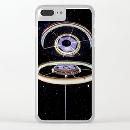 Exterior View, Stanford Torus Clear iPhone Case