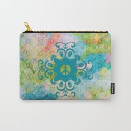 Peace and Butterflies Pattern Carry-All Pouch
