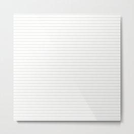 Creamy Tofu White Mattress Ticking Narrow Striped Pattern - Fall Fashion 2018 Metal Print