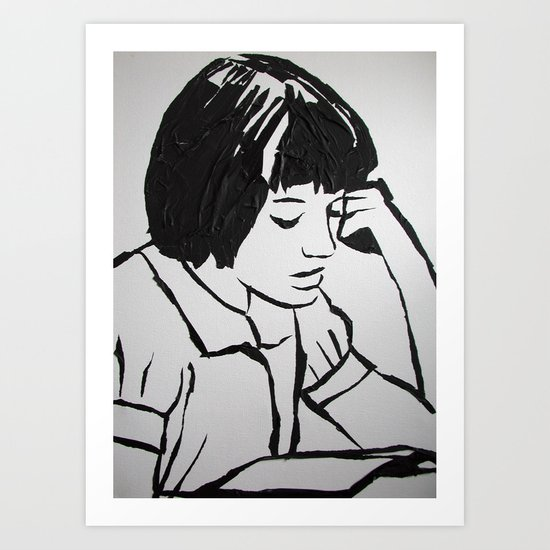 Scout reading.. Art Print