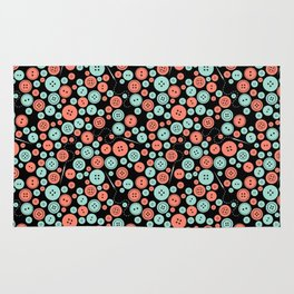 Sew Many Buttons Rug