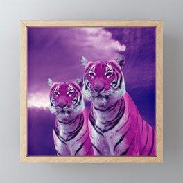 Purple Tiger Framed Mini Art Print