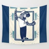 sailor Wall Tapestries featuring Sailor by SOFAR SOGOOD