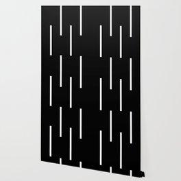 Black & White Retro Stripes Wallpaper