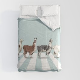 Llama The Abbey Road #1 Comforters