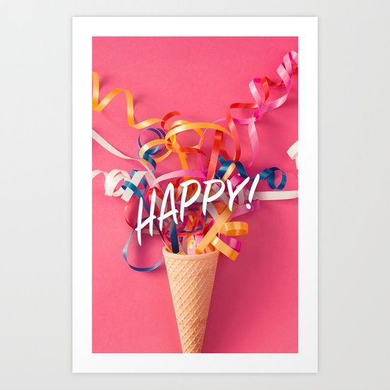 Happy! Art Print