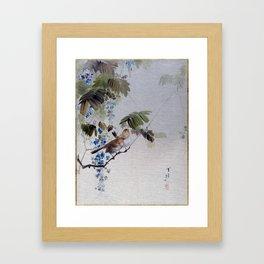 Watanabe Seitei Birds and Flowers Framed Art Print
