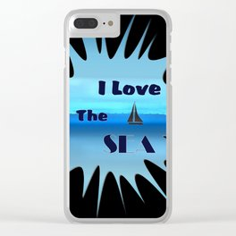 SEA LOVE Clear iPhone Case