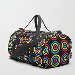 Neon circles Duffle Bag
