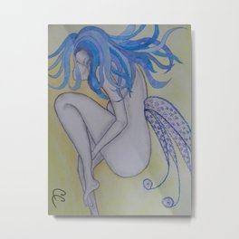 Blue Haired Fairy Metal Print
