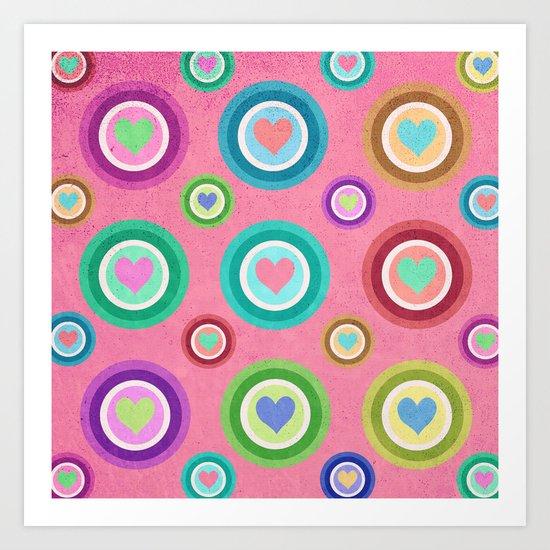 Love, love, love... Art Print