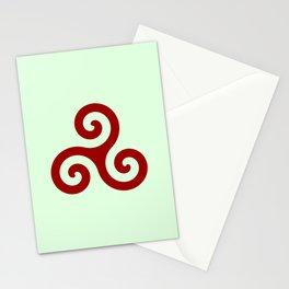 Triskele 11 -triskelion,triquètre,triscèle,spiral,celtic,Trisquelión,rotational Stationery Cards